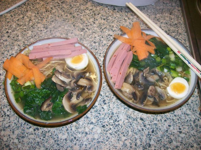 The finished product, your very own Japanese Ramen!