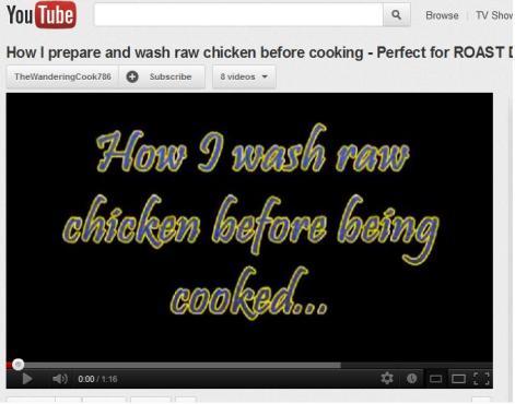 Wash chicken pic