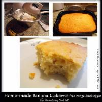 Home-made Banana Cake - using free range duck eggs